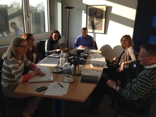 Die Gießener Projektgruppe bei der Vorbereitung der Veranstaltung in Grünberg