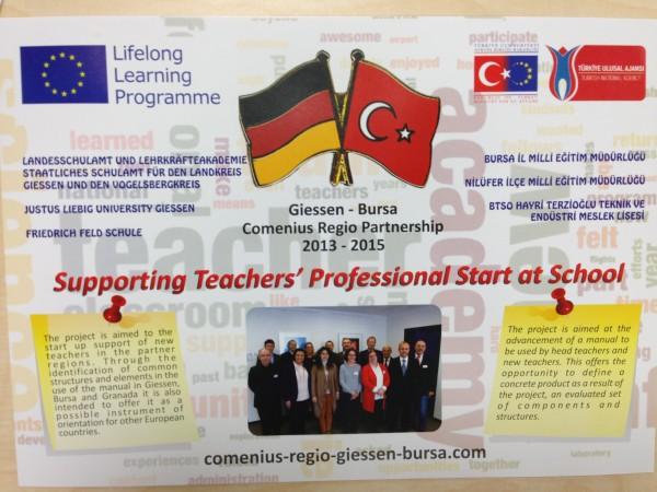 Flyer zum Comenius Regio Projekt Gießen-Bursa